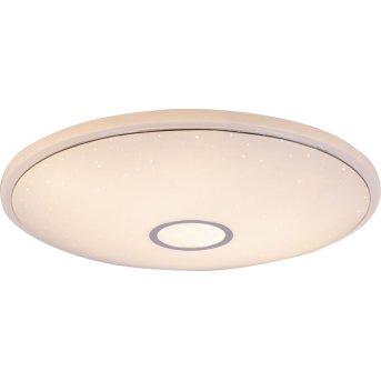 Globo CONNOR Deckenleuchte LED Weiß, 1-flammig, Fernbedienung, Farbwechsler