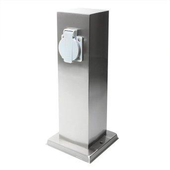 KS Verlichting Garden socket Steckdosensäule Edelstahl, 1-flammig