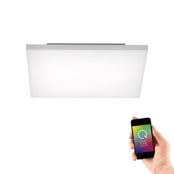 Paul Neuhaus Q-FRAMELESS LED Panel Weiß, 1-flammig, Fernbedienung, Farbwechsler