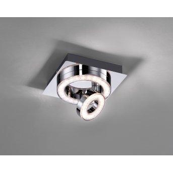 Leuchten Direkt TIM Deckenleuchte LED Chrom, 2-flammig
