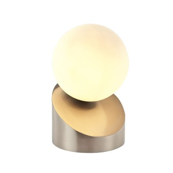 Nino Leuchten ALISA Tischleuchte LED Nickel-Matt, 1-flammig