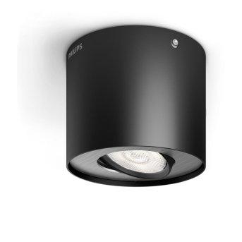 Philips Phase Deckenleuchte LED Schwarz, 1-flammig