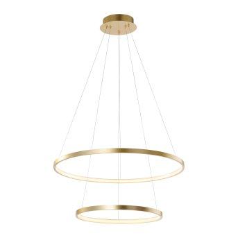 Leuchten Direkt CIRCLE Pendelleuchte LED Gold, 1-flammig