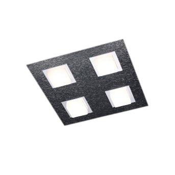 Grossmann BASIC Deckenleuchte LED Anthrazit, 4-flammig