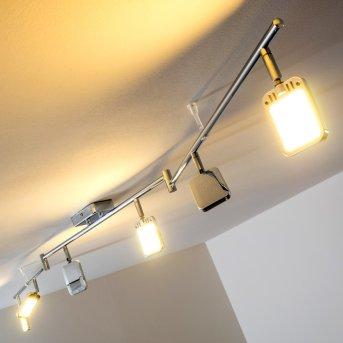 Moosonee Deckenleuchte LED Chrom, 6-flammig