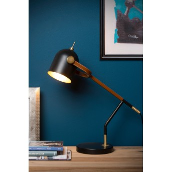 Lucide WAYLON Schreibtischlampe Schwarz, 1-flammig